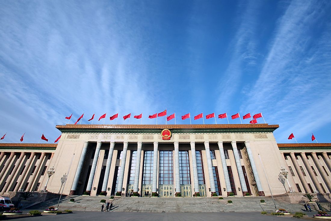 Great Hall of the People, the parliament of China, in Beijing.