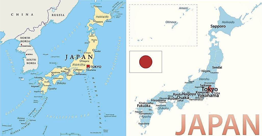 The Largest Japanese Islands  WorldAtlascom