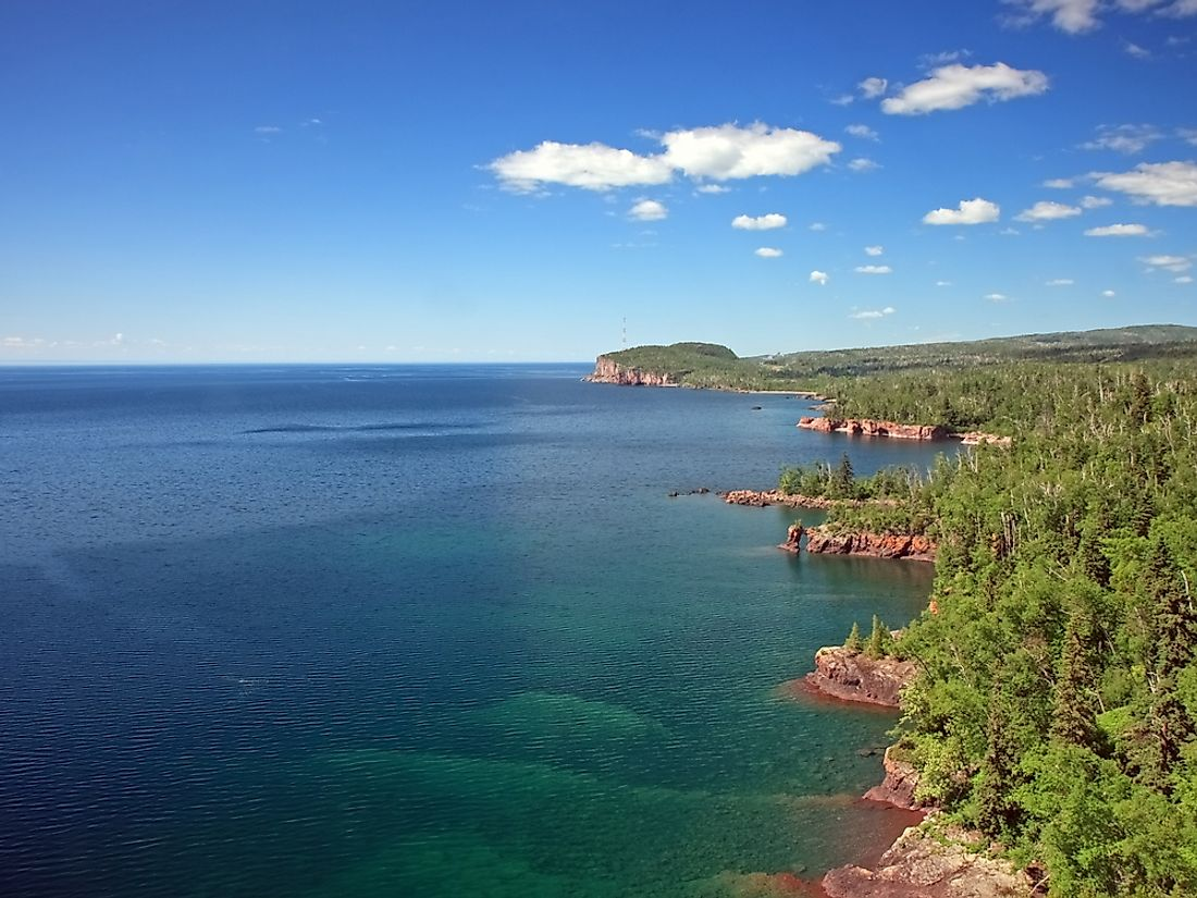 Lake Superior is the largest freshwater lake in North America and the world.