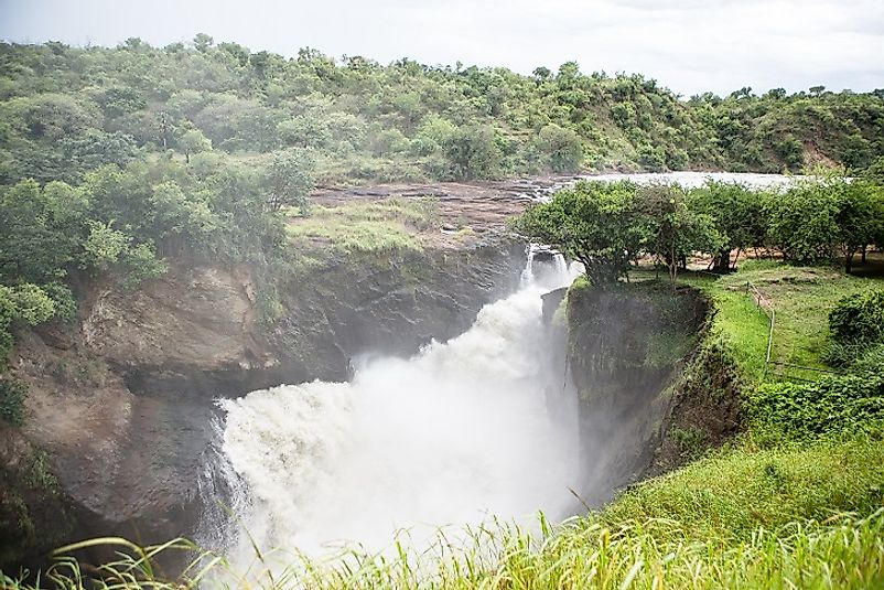 Murchison Falls on the White Nile in Uganda.