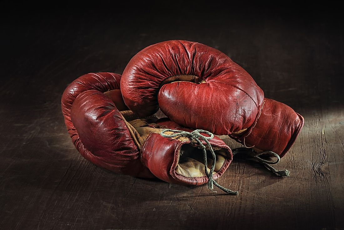 Boxing gloves are an integral part of boxing.