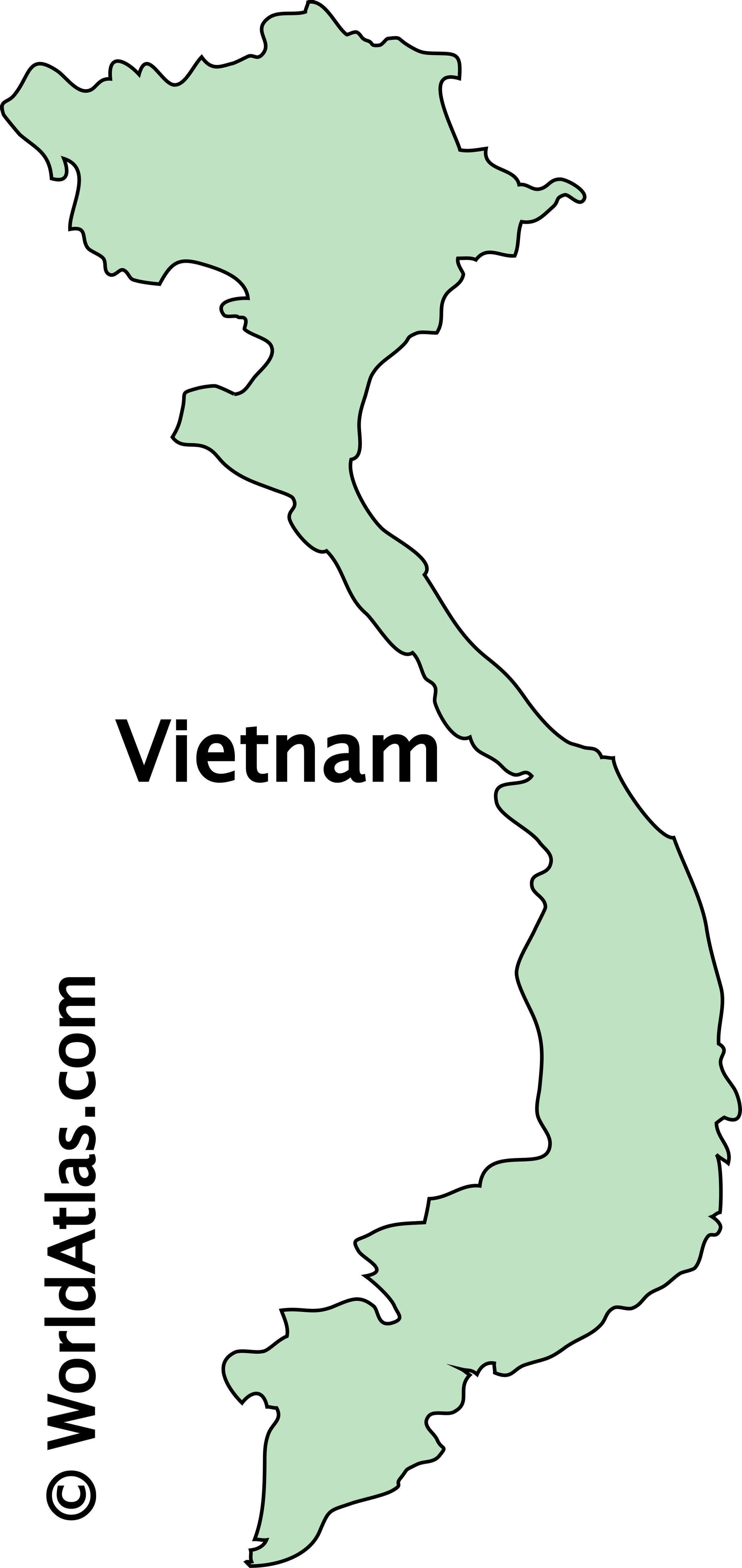 Outline Map of Vietnam