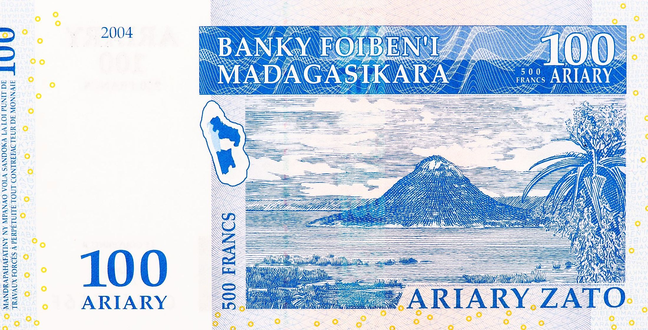 A Malagasy ariary note.