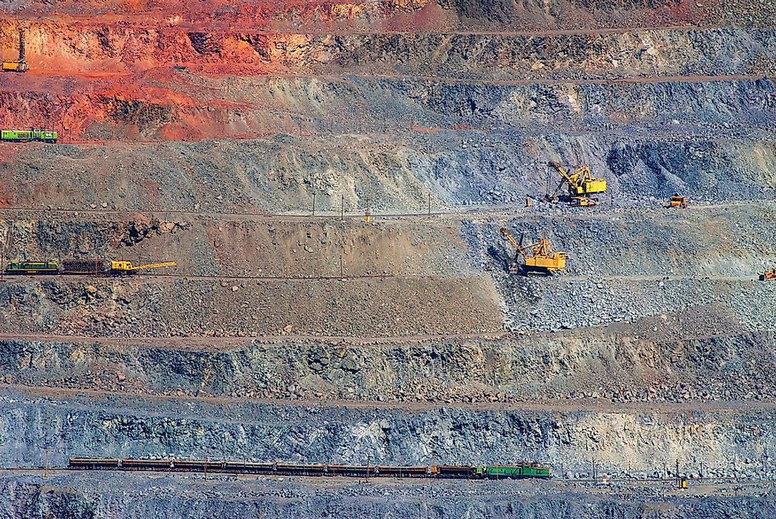 An open pit mine for iron ore in Ukraine.