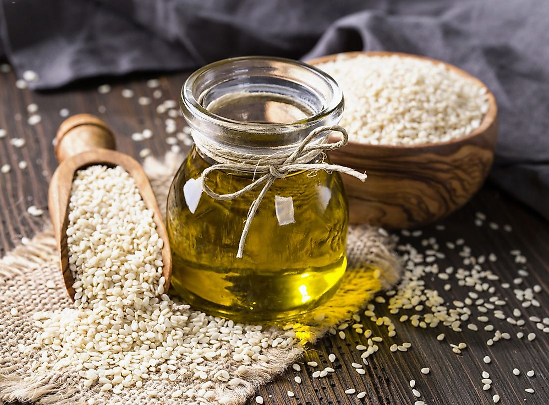 Sesame oil is a popular oil used in cooking.
