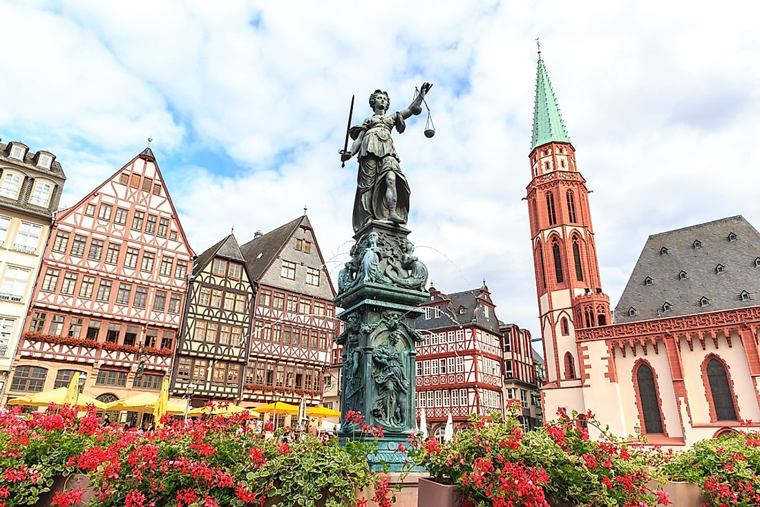 Frankfurt has one of the highest GDPs in all of Germany.