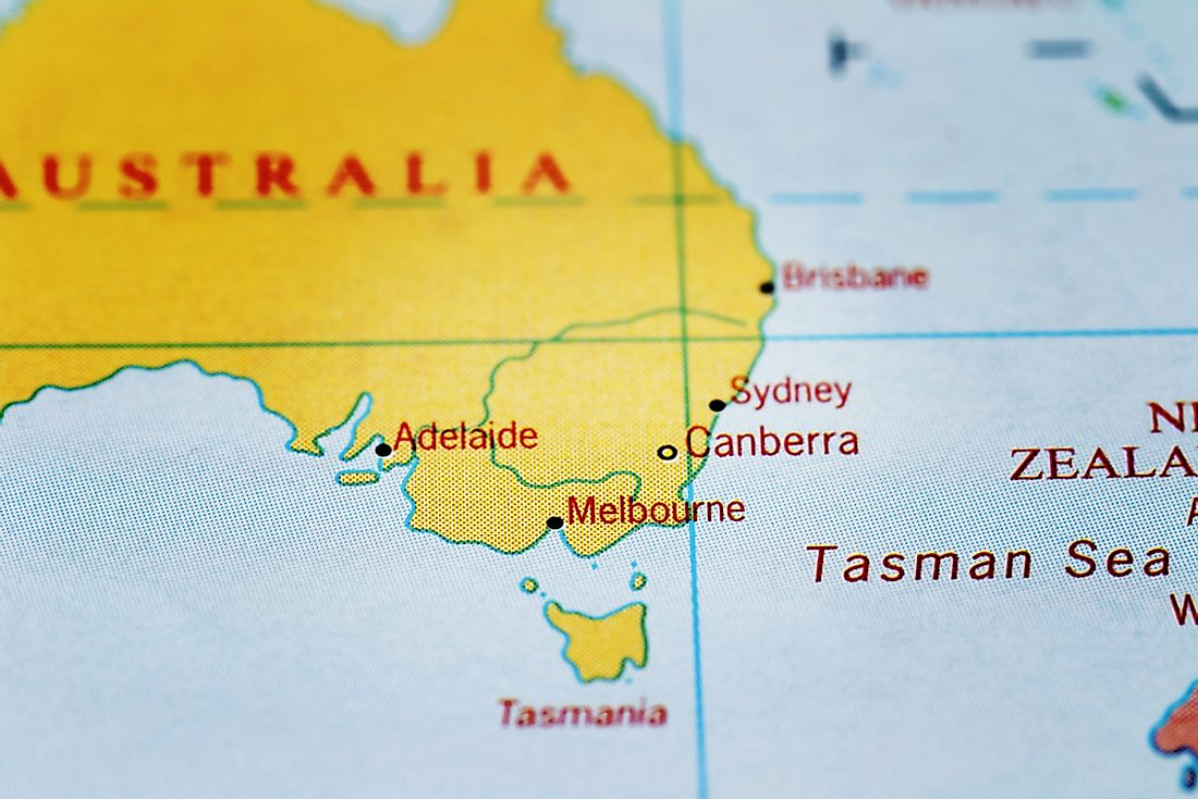 Tasmania, the largest island in Australia.