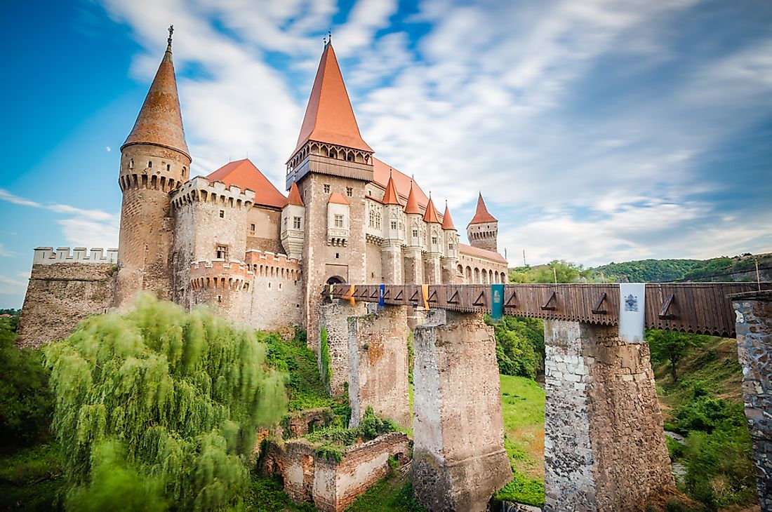 Corvin Castle is one of the largest castles in Europe.