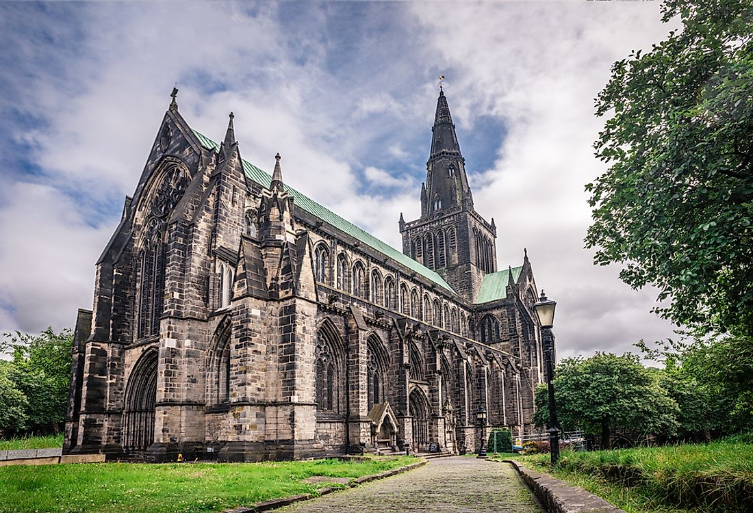 Glasgow Cathedral marks the birthplace of Glasgow.
