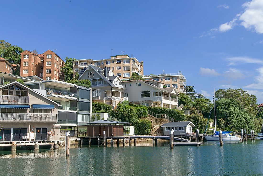 An affluent suburb of Sydney, Australia.