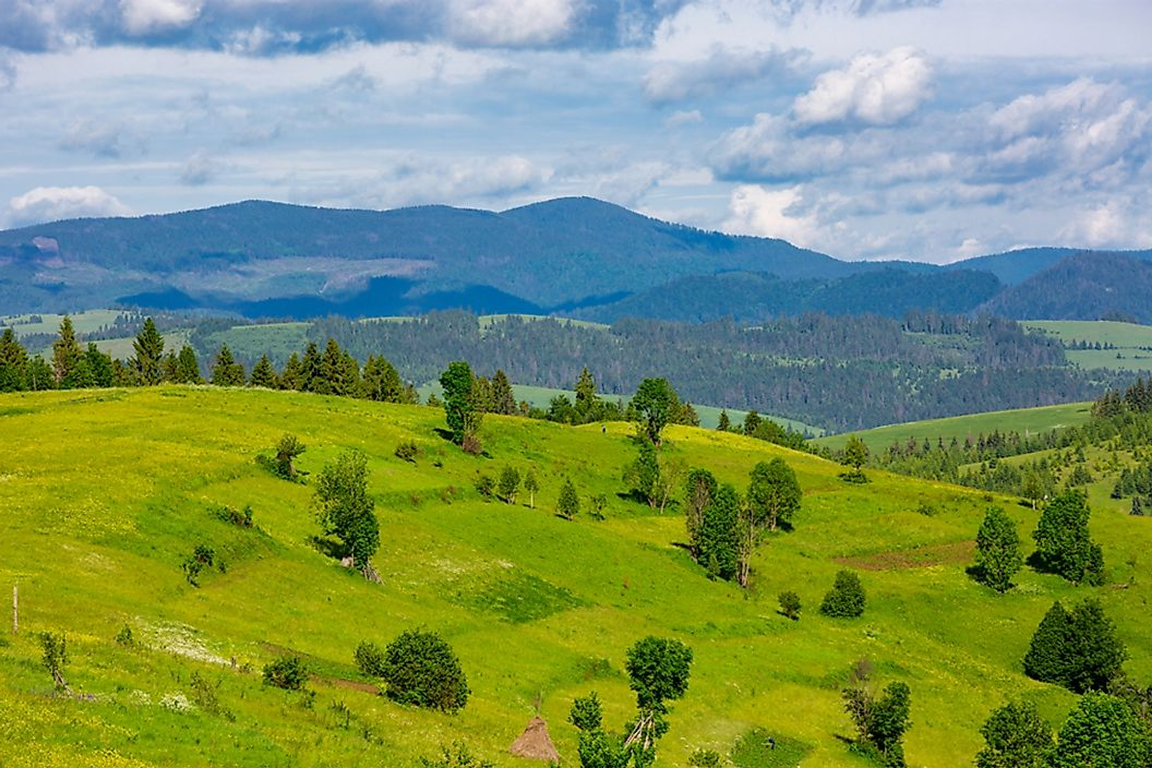 The Carpathian Mountains are part of the Alpide belt of mountain ranges.