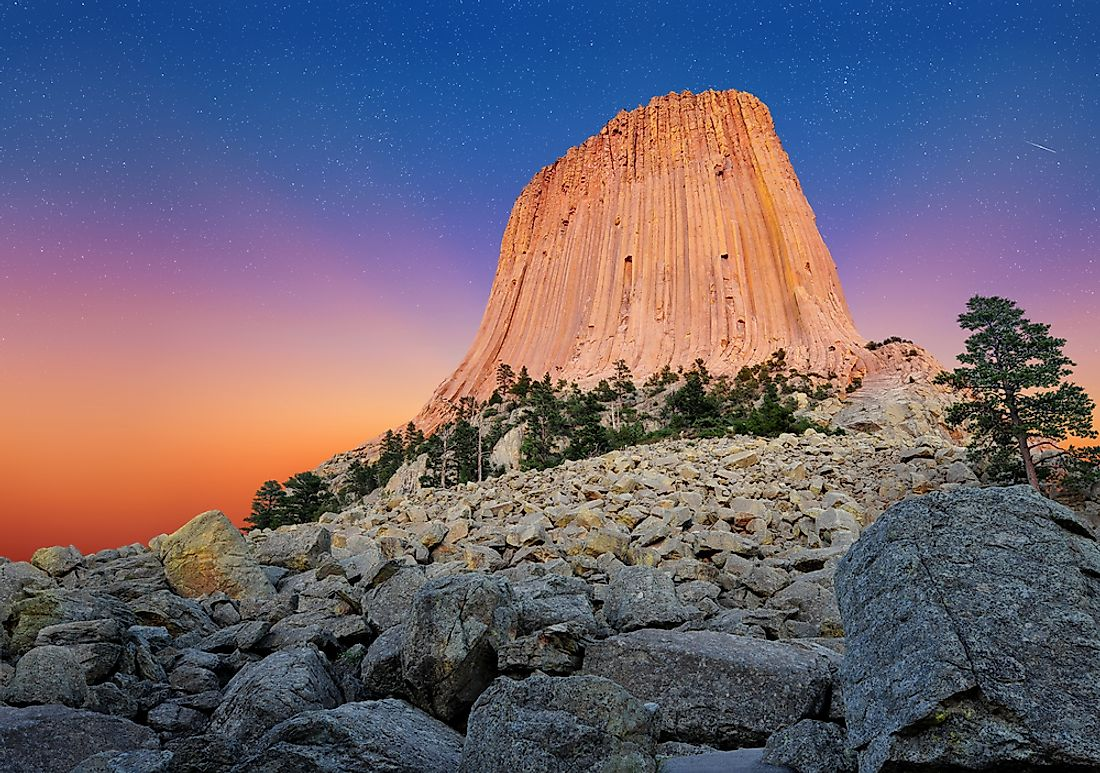 The Devil's Tower rises 5,112 feet above sea level.