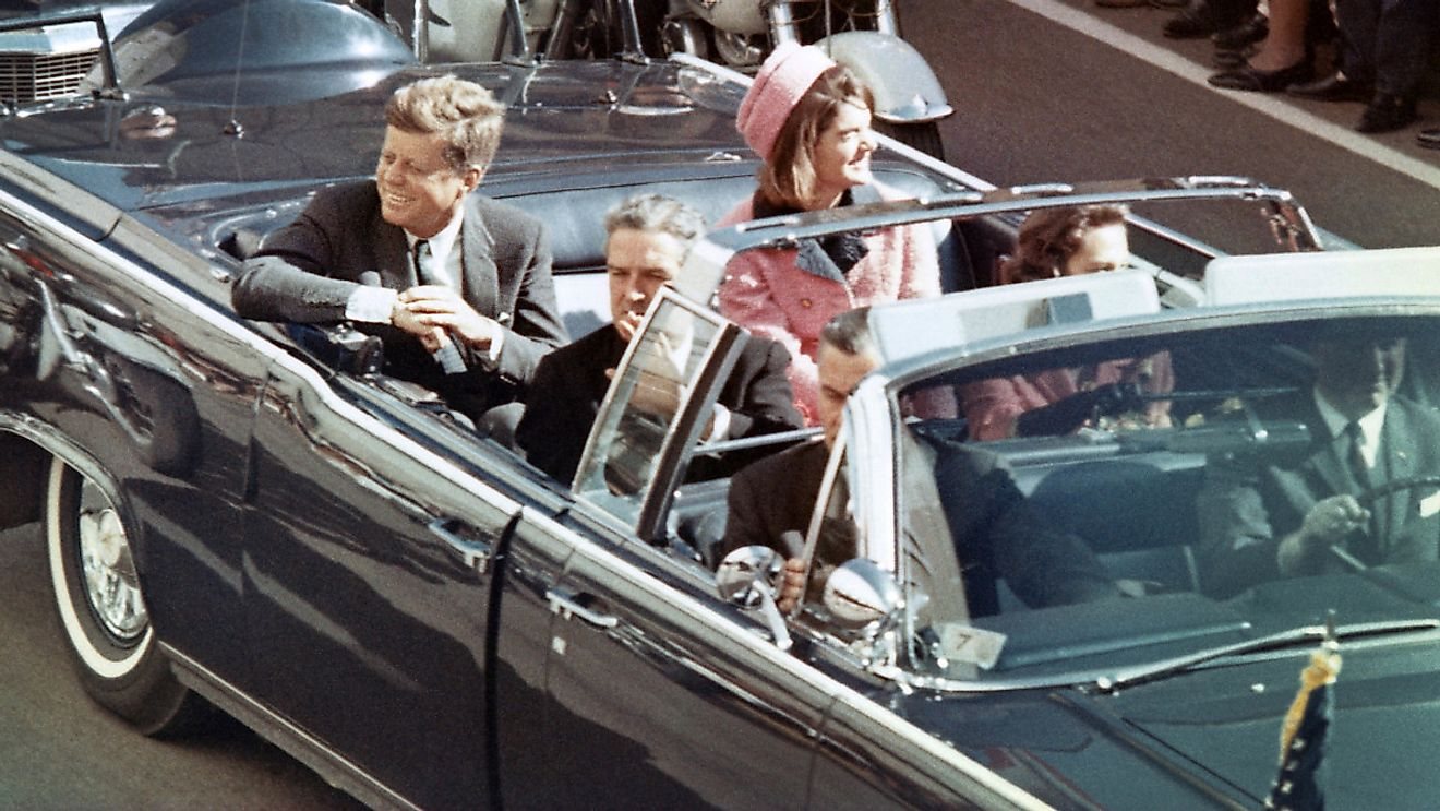 JFK was assassinated in November 1963 which sparked a lot of conspiracy theories.