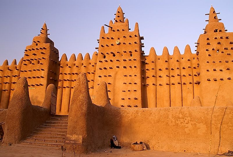 An ancient mosque part of the famous group of Muslim learning centers collectively known as the Universities of Timbuktu.