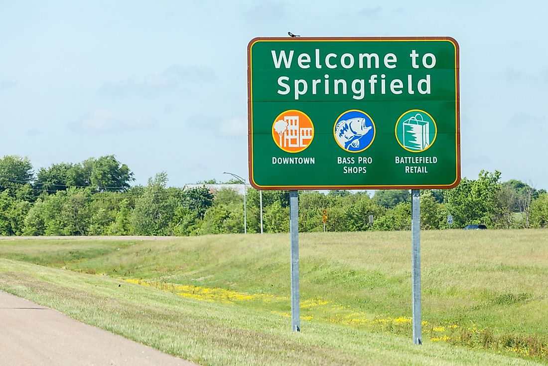 Springfield is one of the most commonly used town names in the entire United States. Pictured here: Springfield, Missouri. Editorial credit: mrcmos / Shutterstock.com.