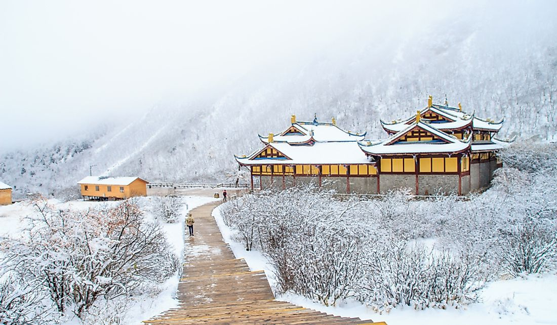 Winter in Sichuan, China.