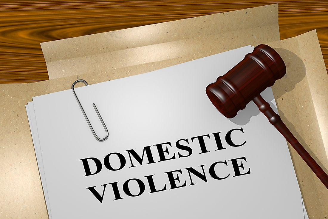 Not all countries have laws against domestic violence.