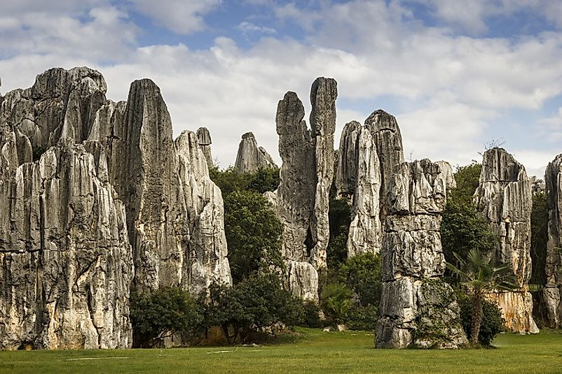 The Shilin Stone Forest.