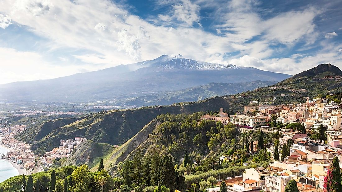 Mount Etna in Sicily, Italy.