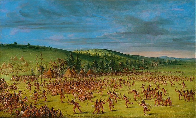Native American ball games often involved hundreds of players
