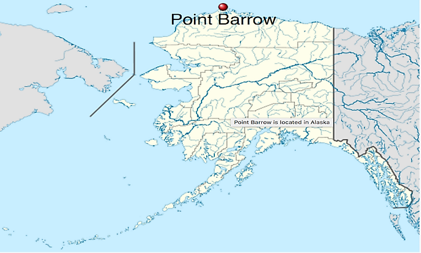 Point Barrow is the northernmost point in the United States.