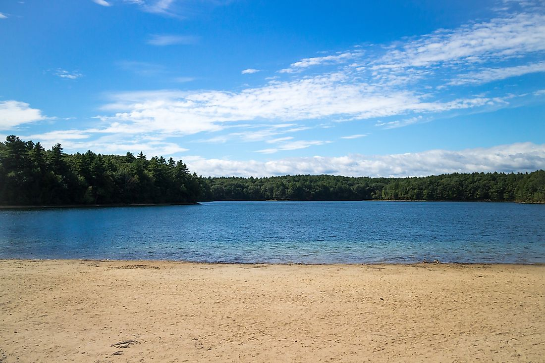 Walden Pond is an example of a kettle lake.