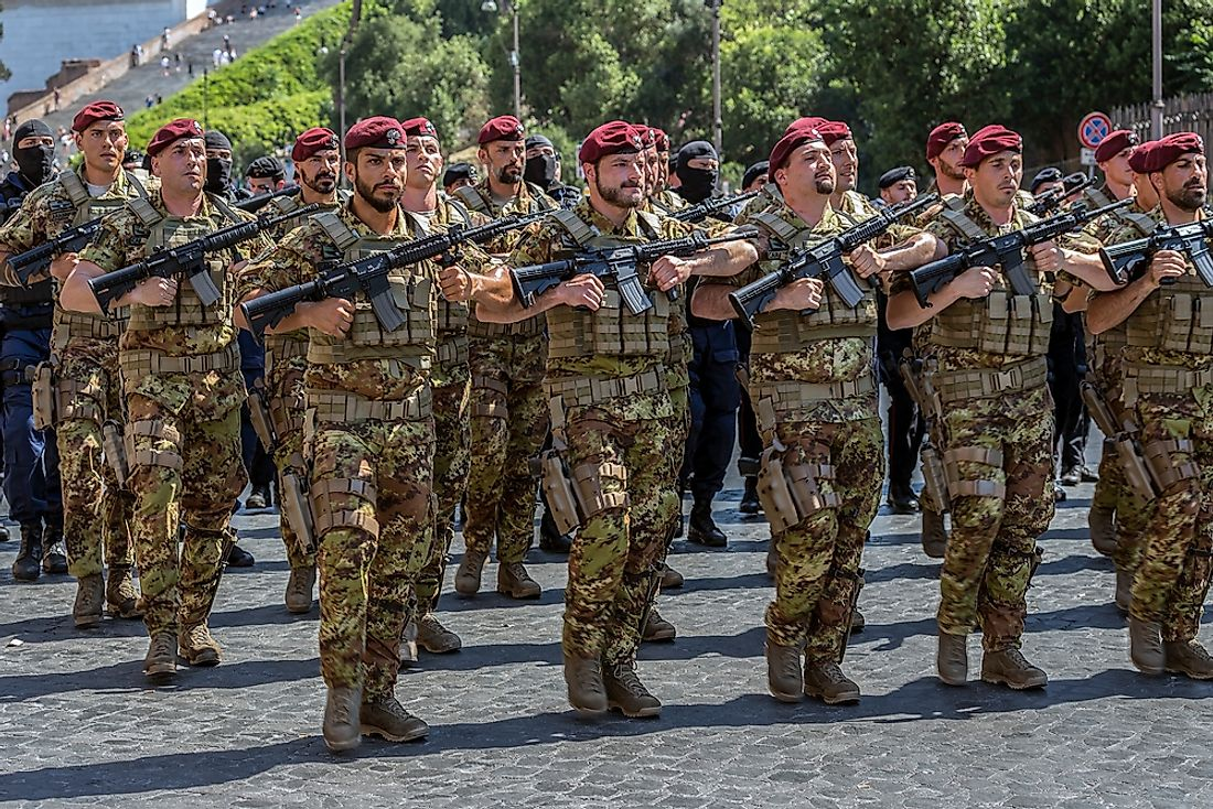 Italy has approximately 248,000 army personnel. Editorial credit: Ioan Florin Cnejevici / Shutterstock.com