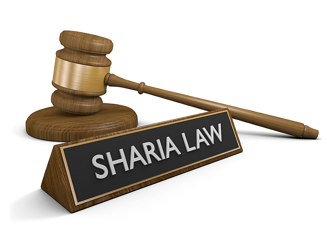 Sharia Law is used in some court systems.