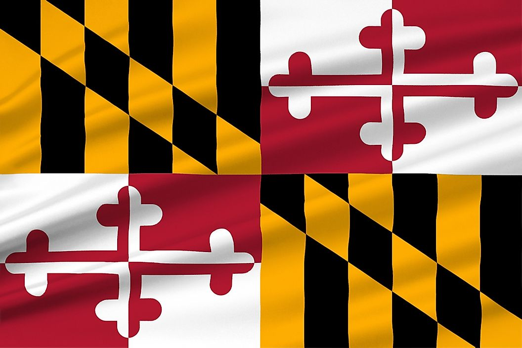 The state flag of Maryland.