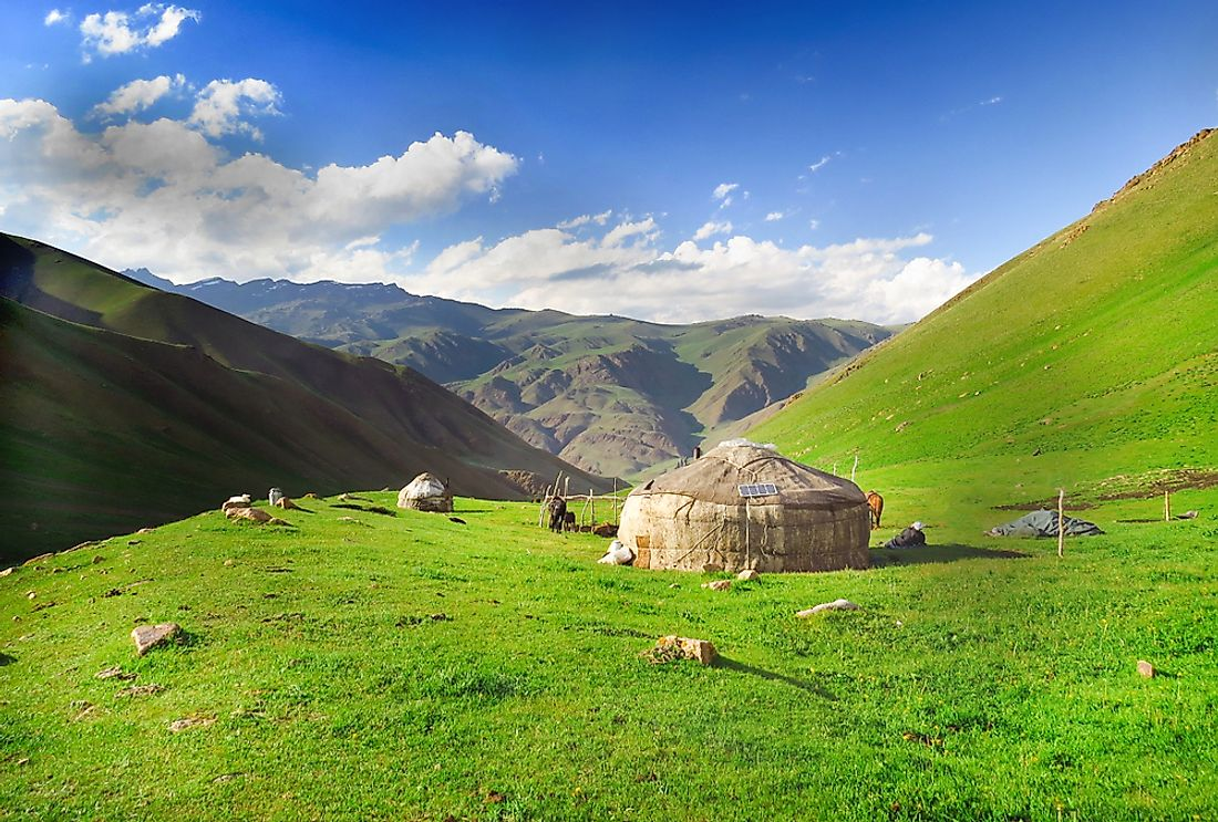 A pasture in Kyrgyzstan.