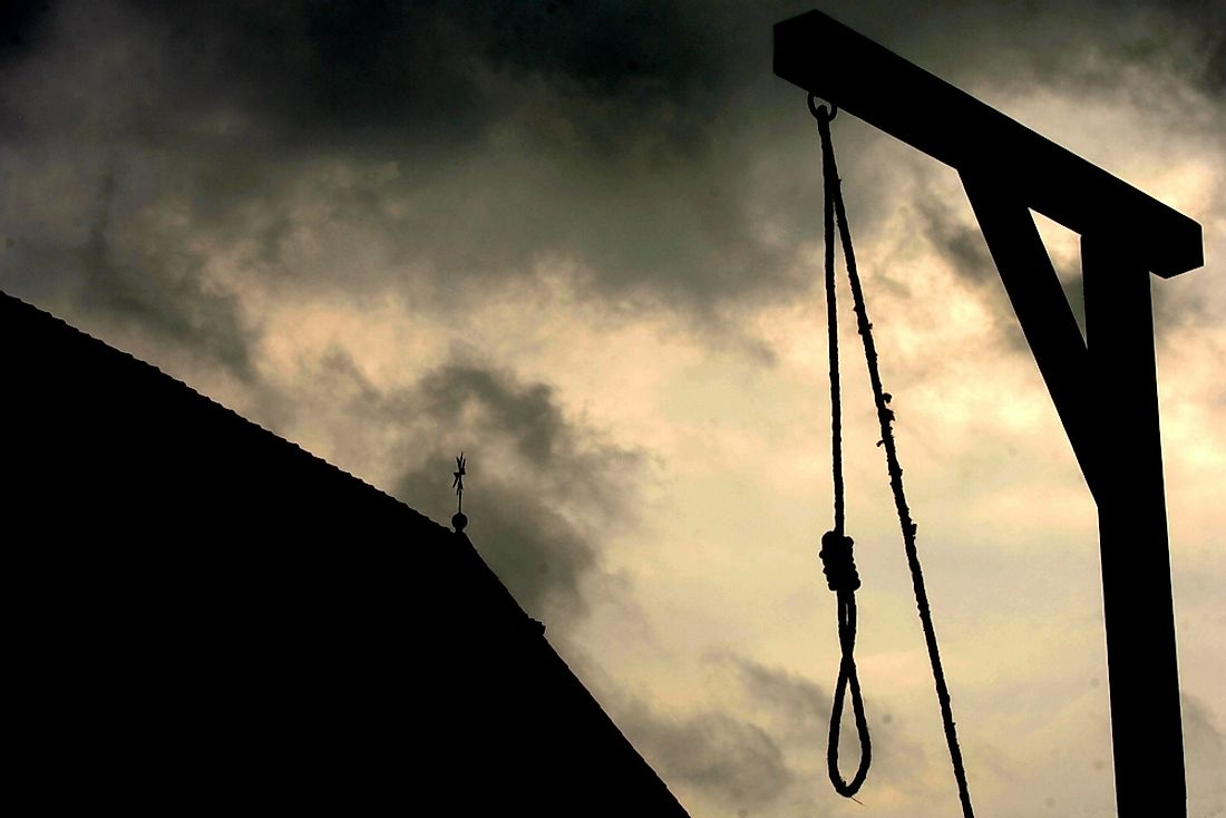 Although gallows may be common in history, in most areas in the world they are no longer socially acceptable.
