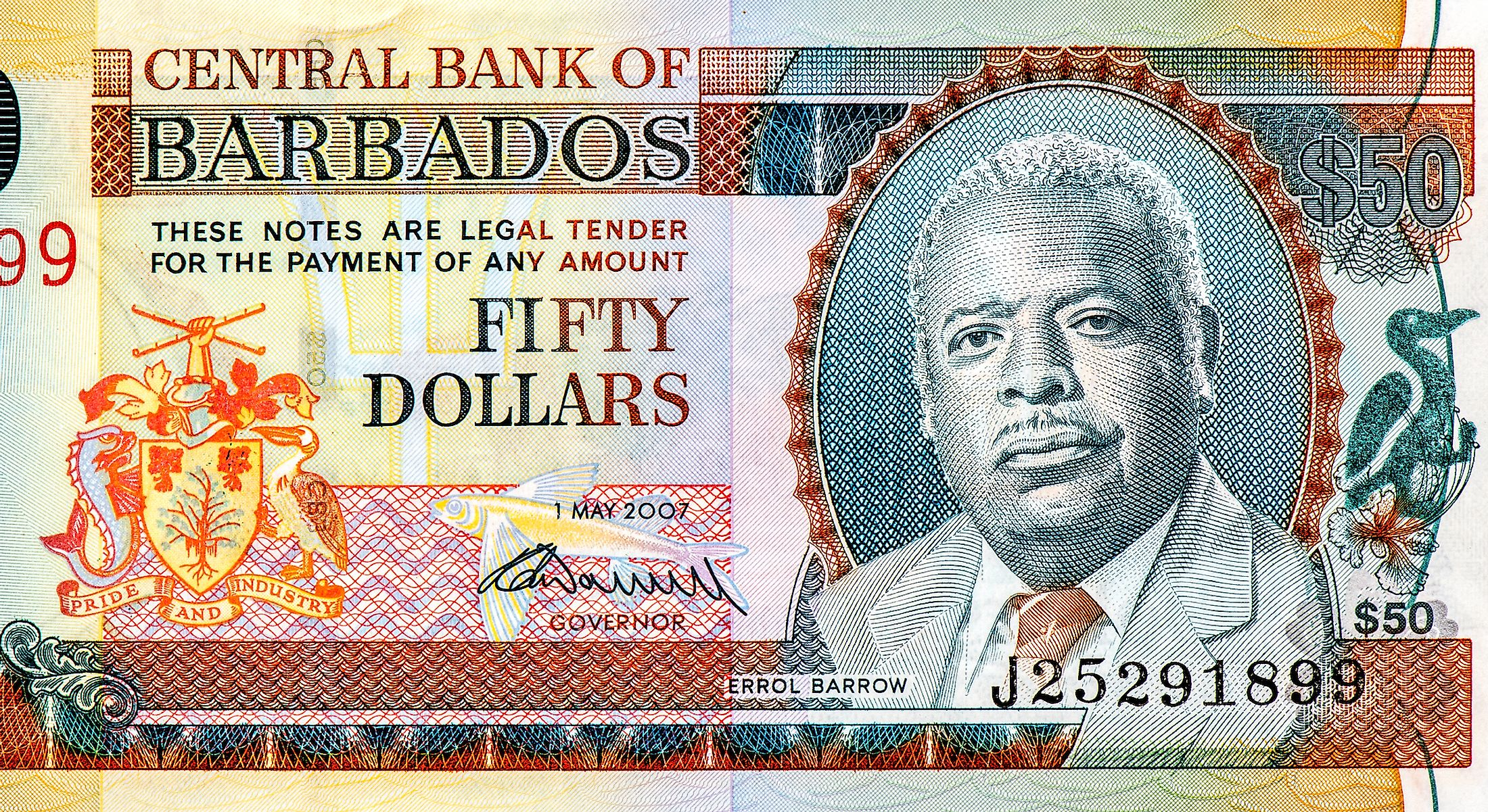 A Barbadian banknote.