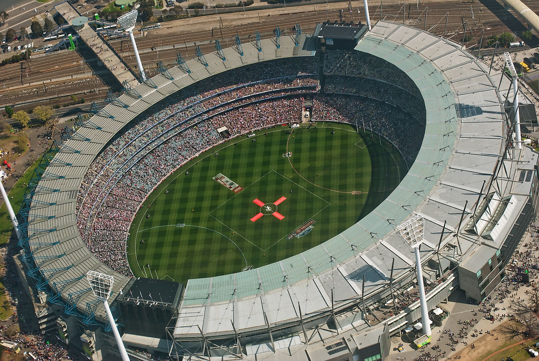 The Melbourne Cricket Ground In Melbourne, Australia.