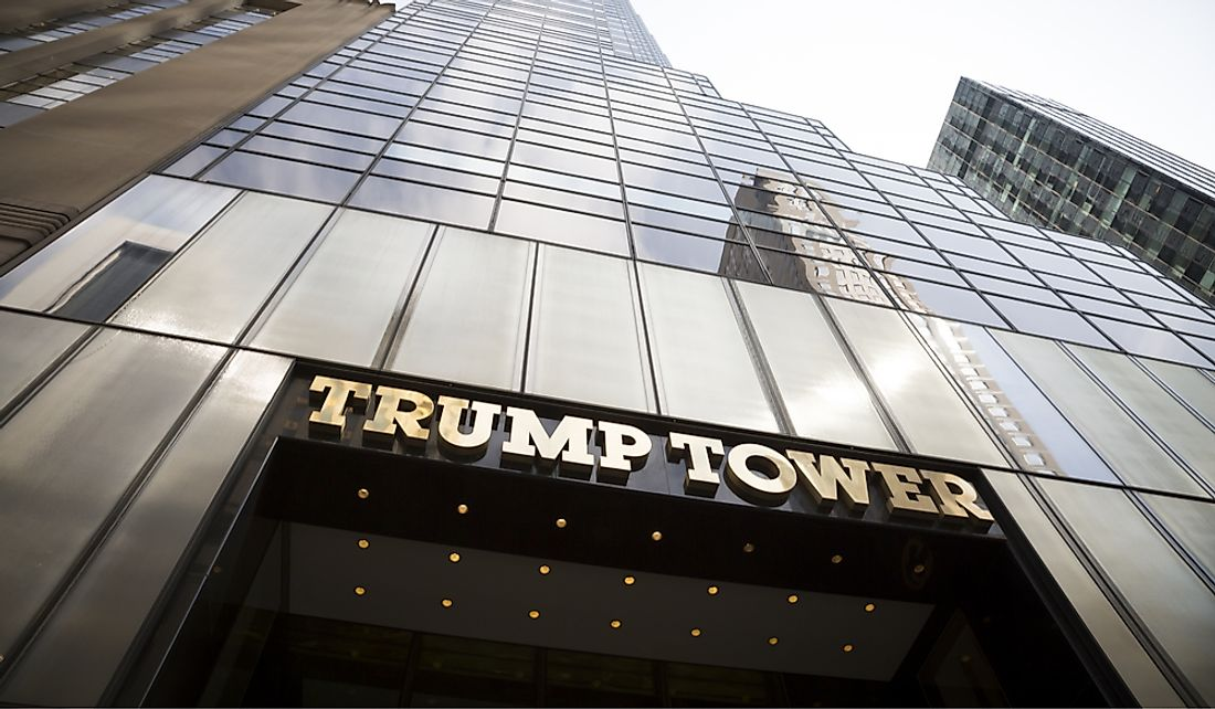 Trump Tower in Manhattan, New York, US. Editorial credit: Glynnis Jones / Shutterstock.com