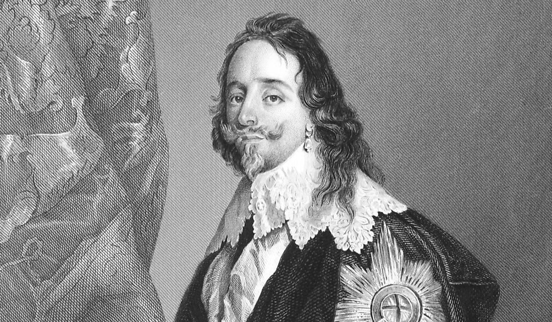King Charles I was executed in 1649.