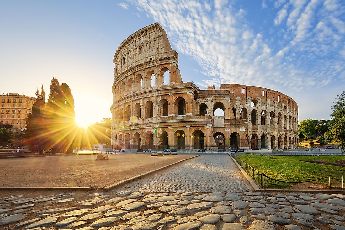 The Colosseum in Italy.