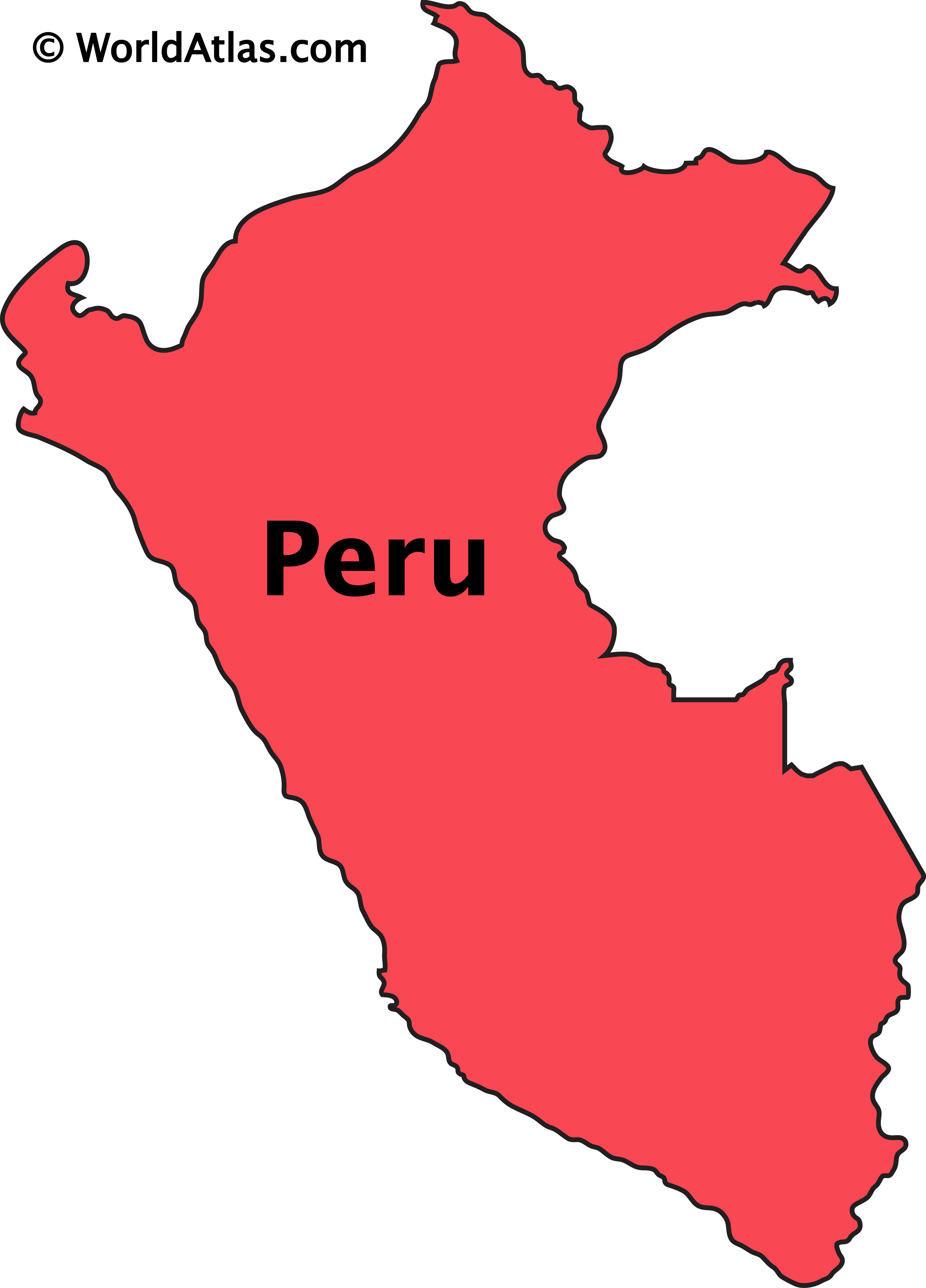 Outline Map of Peru