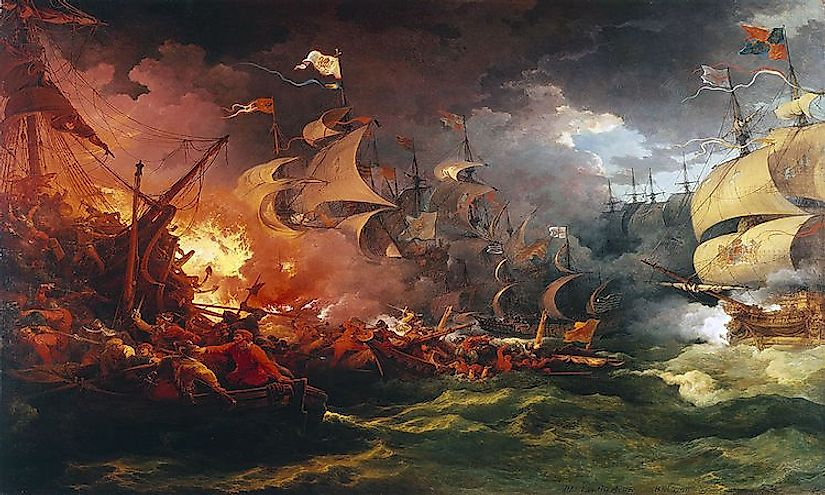 The Spanish Armada: Catholic Spain's failed attempt to overthrow Elizabeth of the House of Tudor and take control of England.