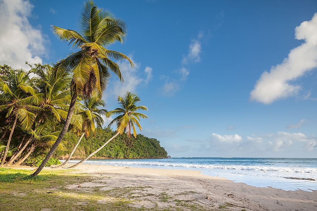 A beach on the island of Grenada.