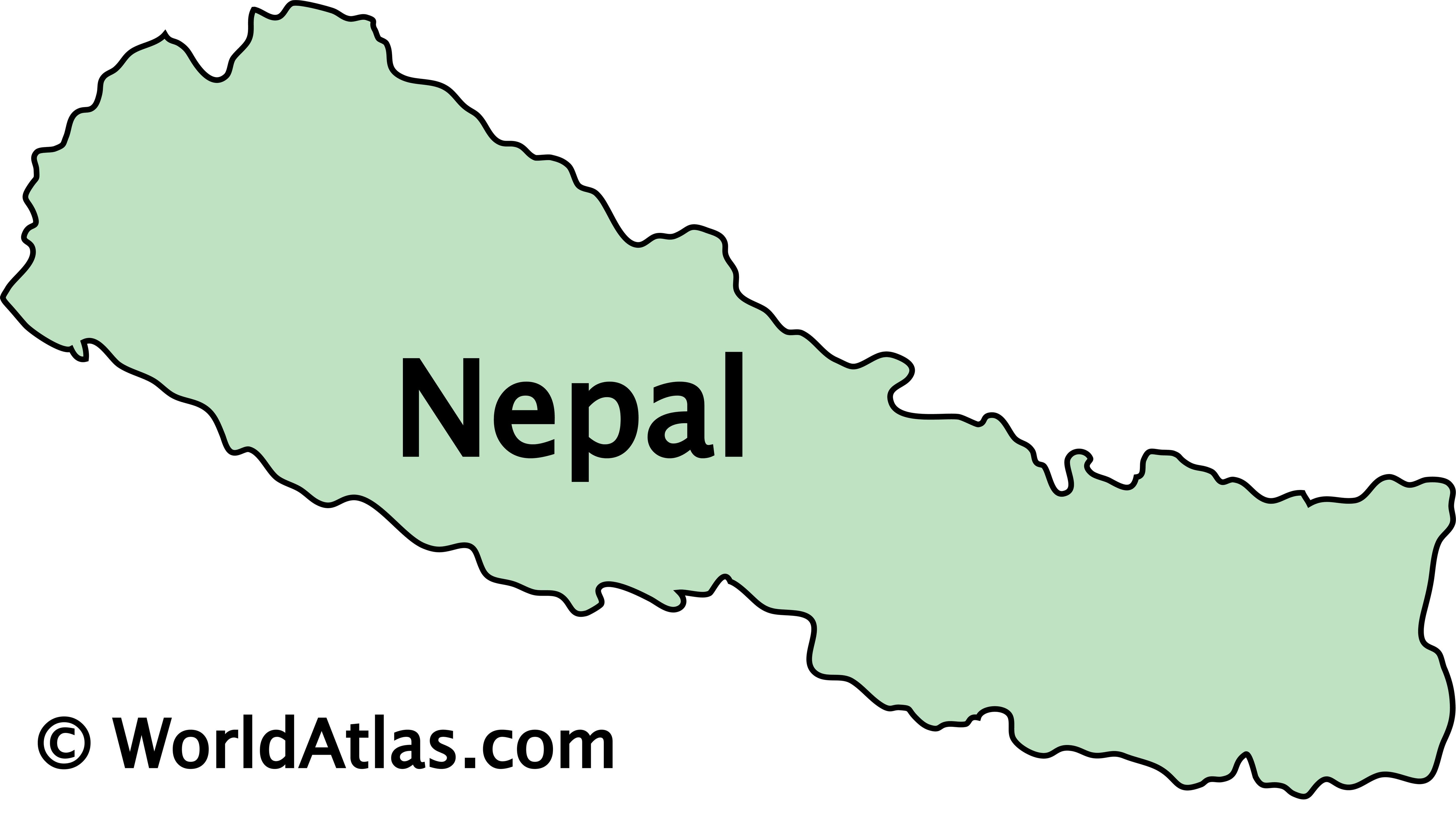 Outline Map of Nepal