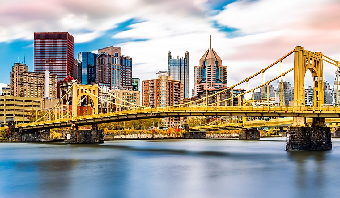 Pittsburgh's Ninth Street Bridge over the Allegheny River.