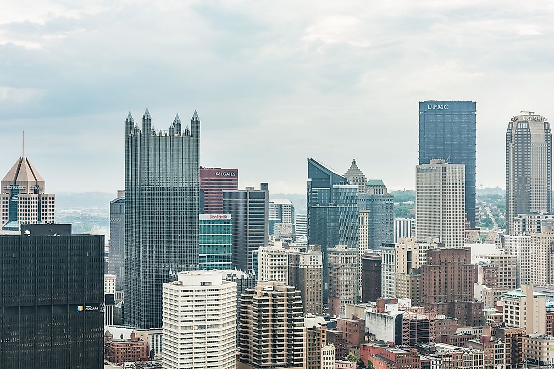 A cloudy day of Pittsburgh. Editorial credit: Andriy Blokhin / Shutterstock.com.