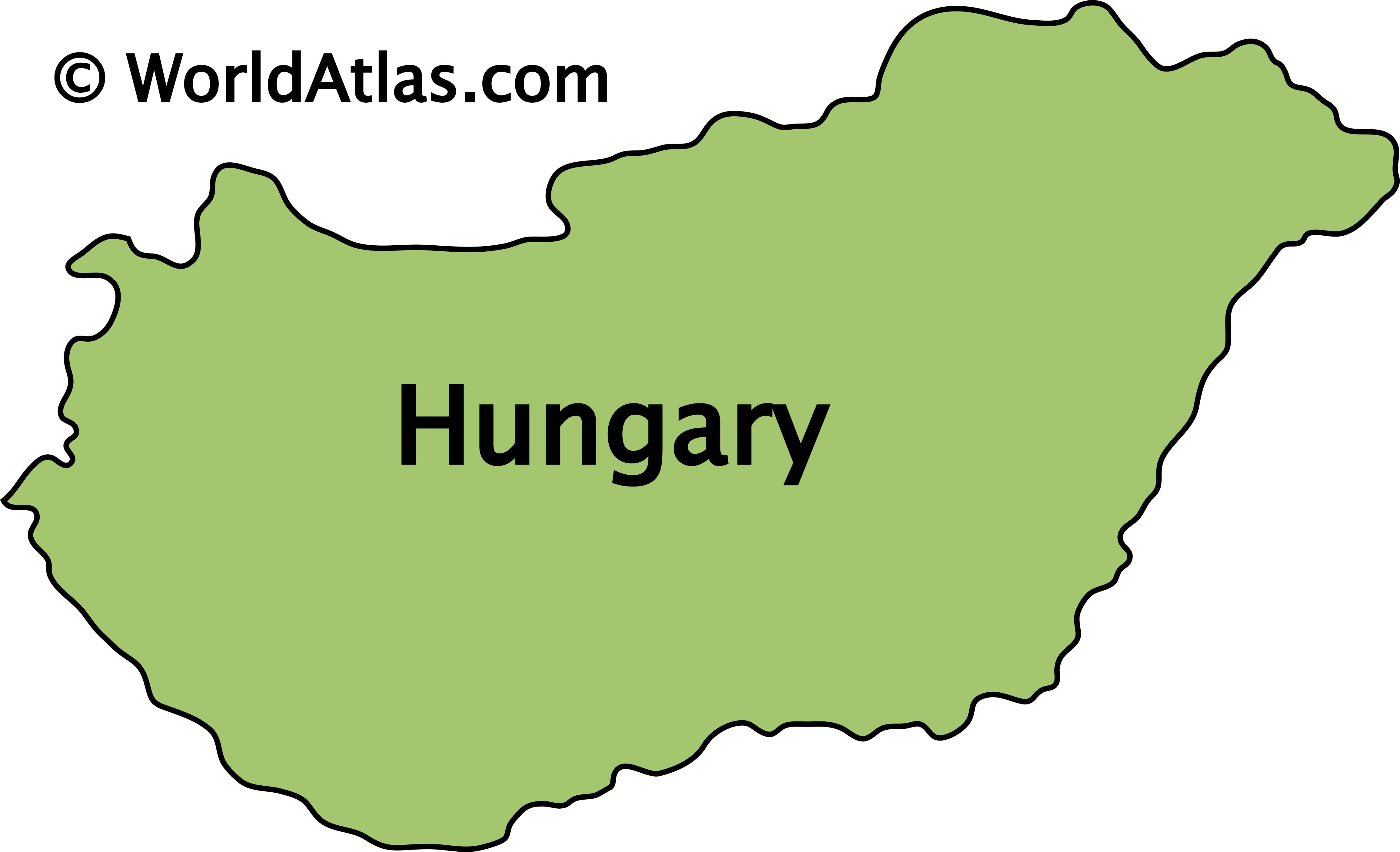 Outline Map of Hungary
