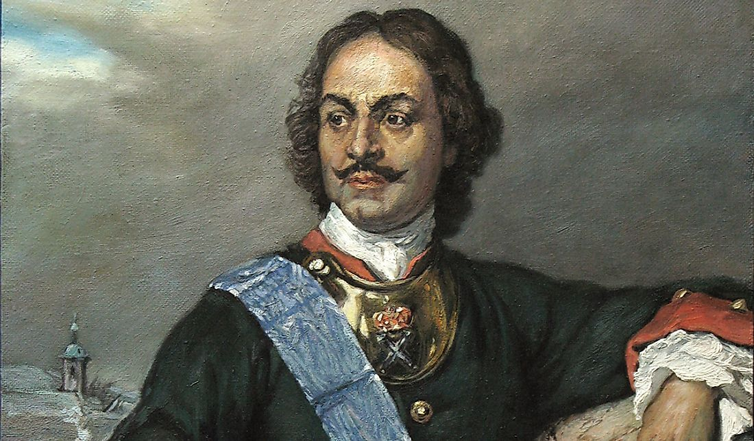 Among his many reforms, Peter the Great founded the city of St. Petersburg in his own name in 1703.