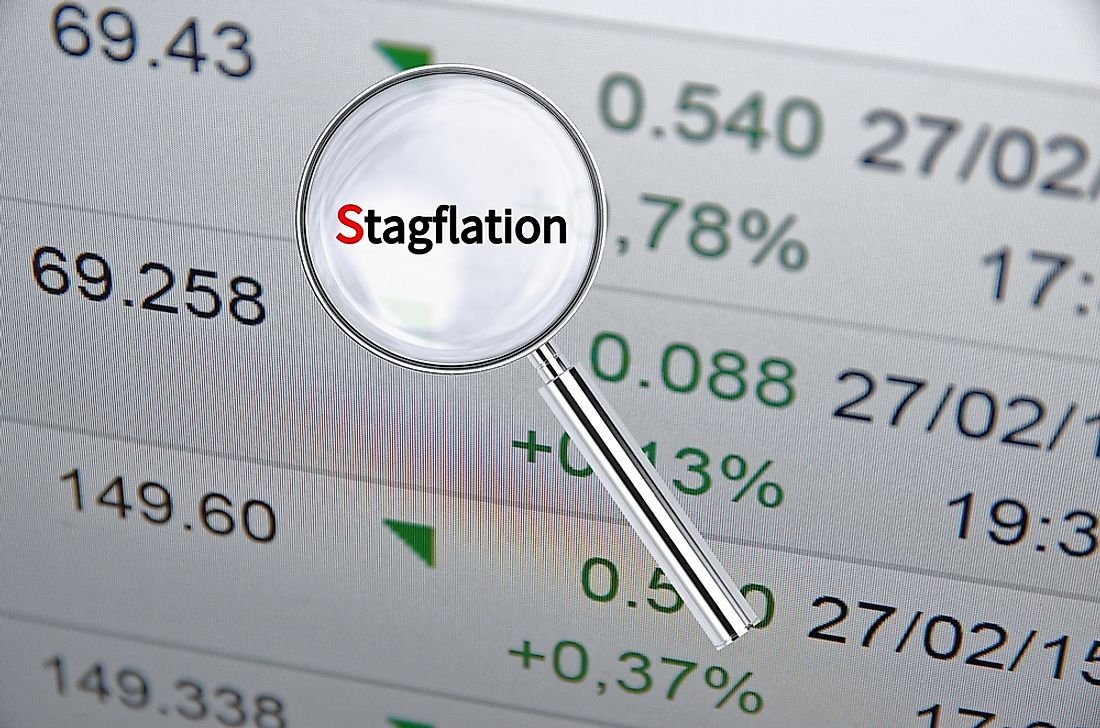 The term stagflation was born in the United States in 1970.