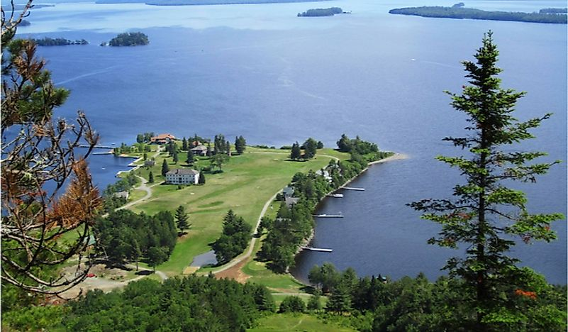 Moosehead Lake, the largest lake in Maine.
