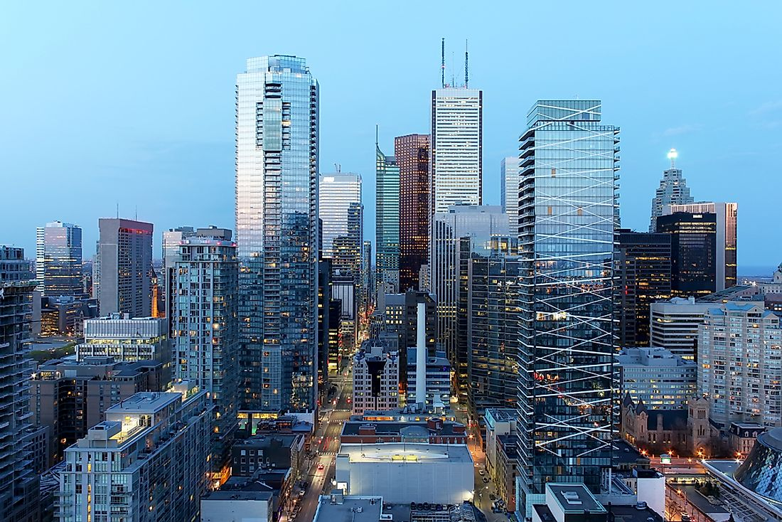 The Central Business District of Toronto.