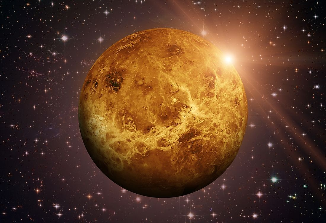 Venus is one of the solar system's four terrestrial planets.