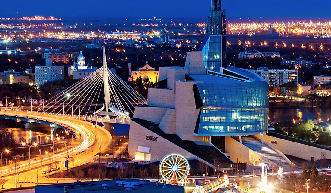Winnipeg is Manitoba's provincial capital and largest city.