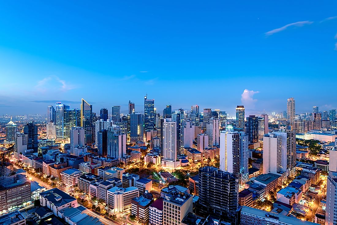 The skyline of Manila.